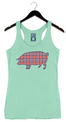 Plaid Pig - Women's Tank