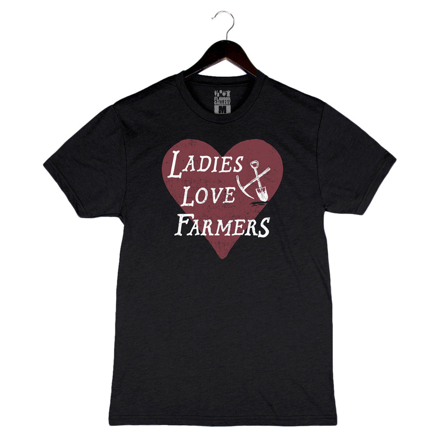 Ladies Love Farmers - Unisex/Men's Triblend Crew - Black