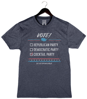 Vote Cocktail Party - Unisex/Men's Crew - Navy