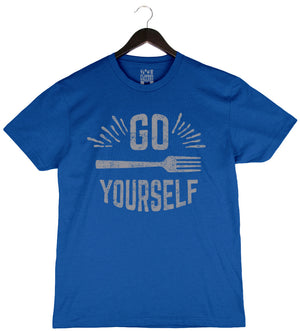 Go Fork Yourself by Andrew Zimmern - Unisex/Men's Crew - Cool Blue
