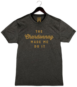 The Chardonnay Made Me Do It - Unisex/Men's Crew - Charcoal Black