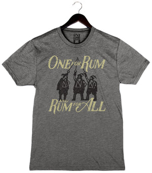 One For Rum and Rum For All - Unisex/Men's Crew - Heather Grey