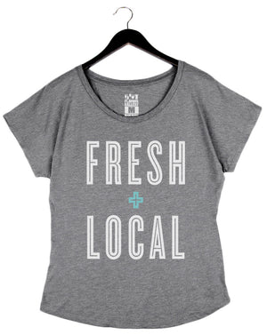Fresh + Local - Women's Dolman - Heather Grey