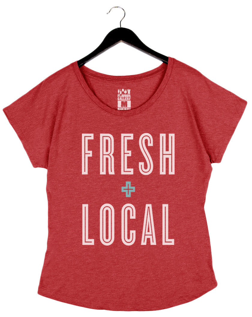 Fresh + Local - Women's Dolman - Red