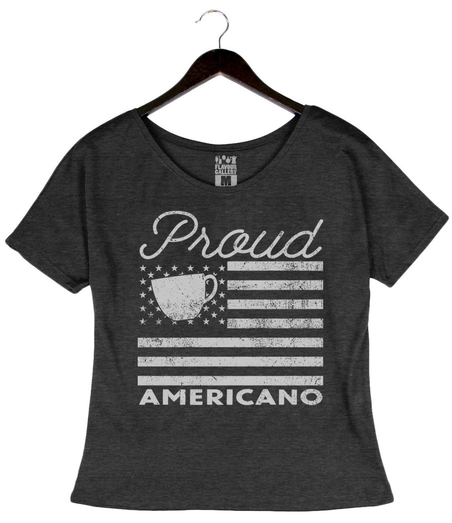 Proud Americano - Women's Dolman - Charcoal Black