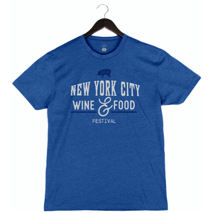 NYCWFF '19 - Pig - Unisex/Men's Crew - Heather Royal Blue