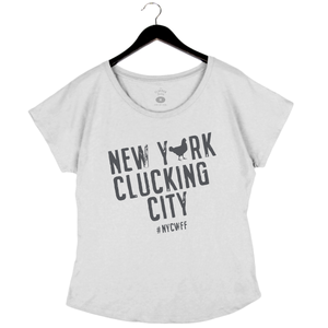NYCWFF '19 - Clucking - Women's Dolman - White