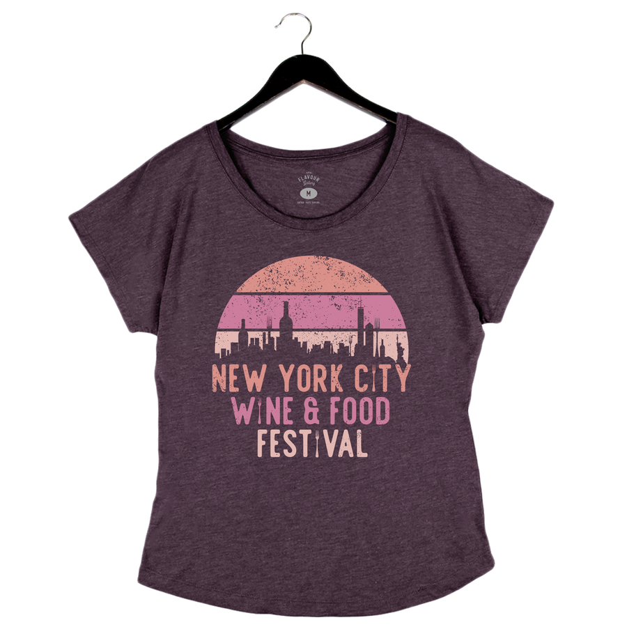 NYCWFF '19 - Skyline - Women's Dolman - Vintage Purple