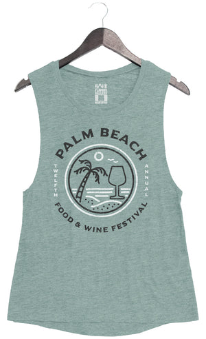 Palm Beach Food & Wine 2018 - Wineglass - Women's Muscle Tank