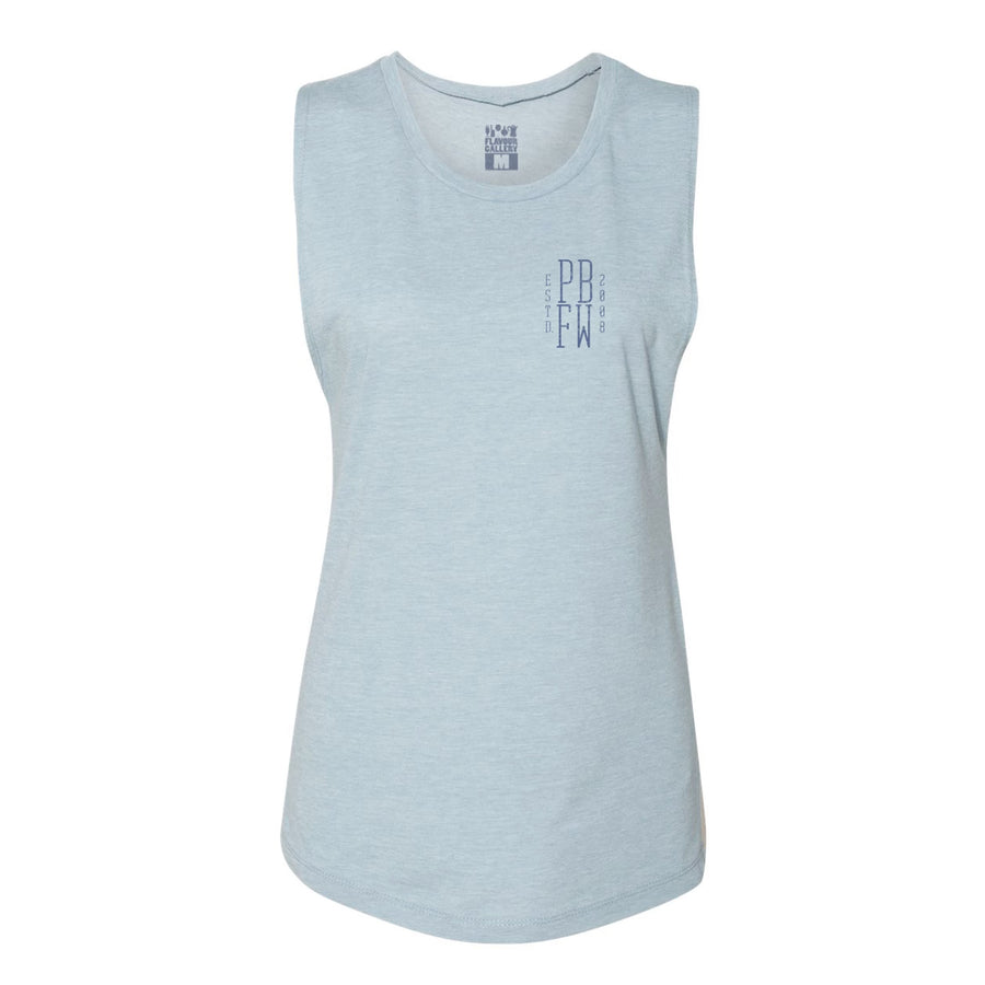 Pebble Beach Food and Wine '19 - Hexagon - Women's Muscle Tank - Dusty Blue