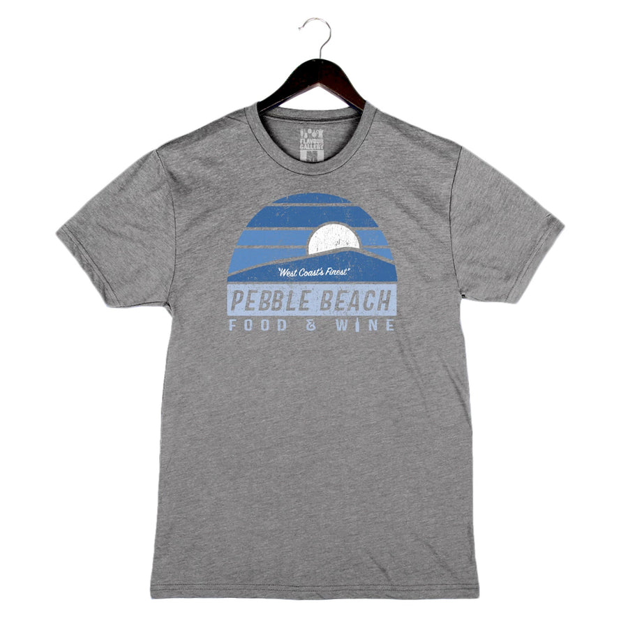 Pebble Beach Food and Wine '19 - Sunset - Unisex/Men's Triblend Crew - Grey