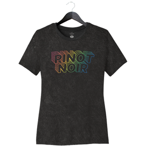 Pinot Noir - Women's Relaxed Crew - Mineral Wash Black
