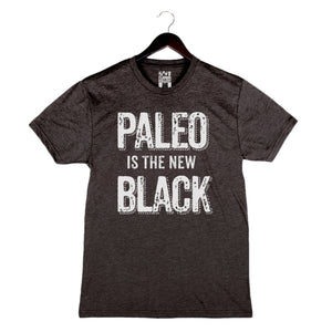 Paleo Is the New Black by Pete Evans - Unisex/Men's Crew - Charcoal Black