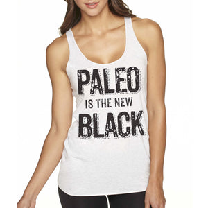 Paleo Is the New Black by Pete Evans - Women's Tank - Heather White