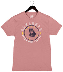 Savannah Food & Wine 2018 - Map - Unisex/Men's Triblend Crew - Mauve