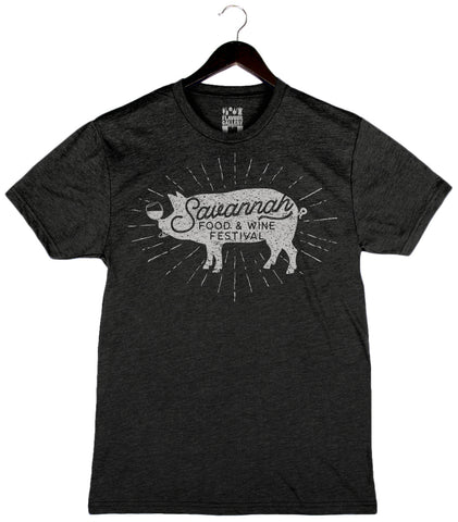 Savannah Food & Wine 2018 - Pig - Unisex/Men's Triblend Crew - Black