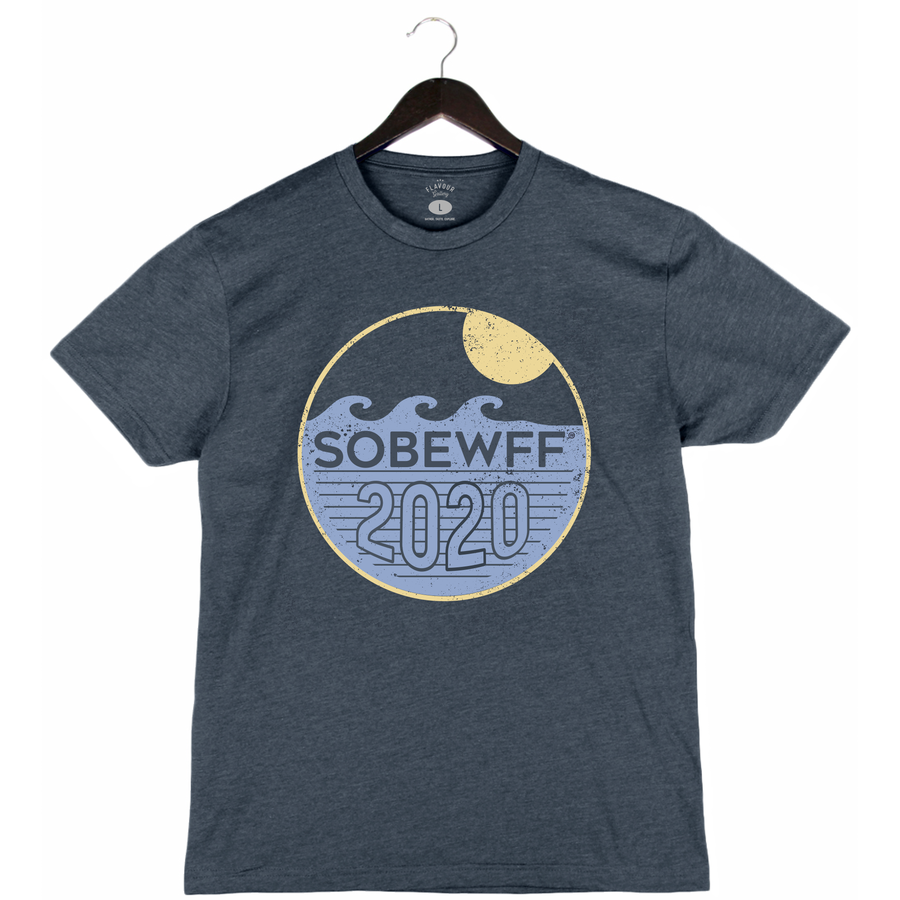 SOBEWFF 2020 - CIRCLE WAVE - Unisex/Men's Crew - NAVY