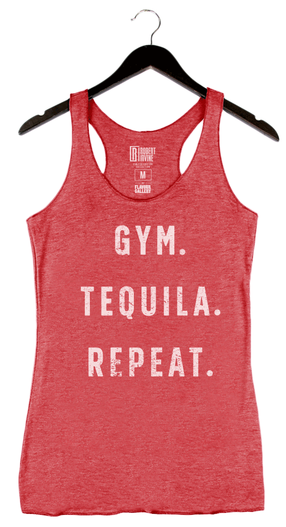 Gym Tequila Repeat by Robert Irvine - Women's Tank - Red