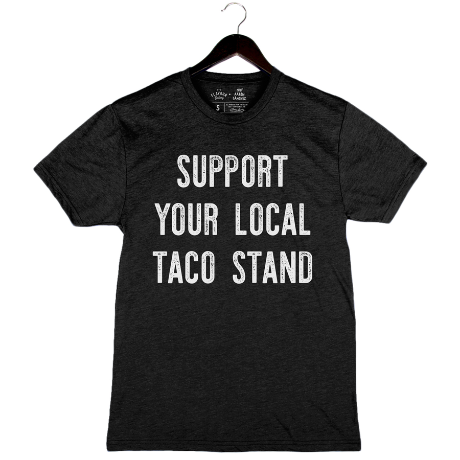 Taco Stand by Aarón Sánchez - Unisex/Men's Crew - Charcoal Black