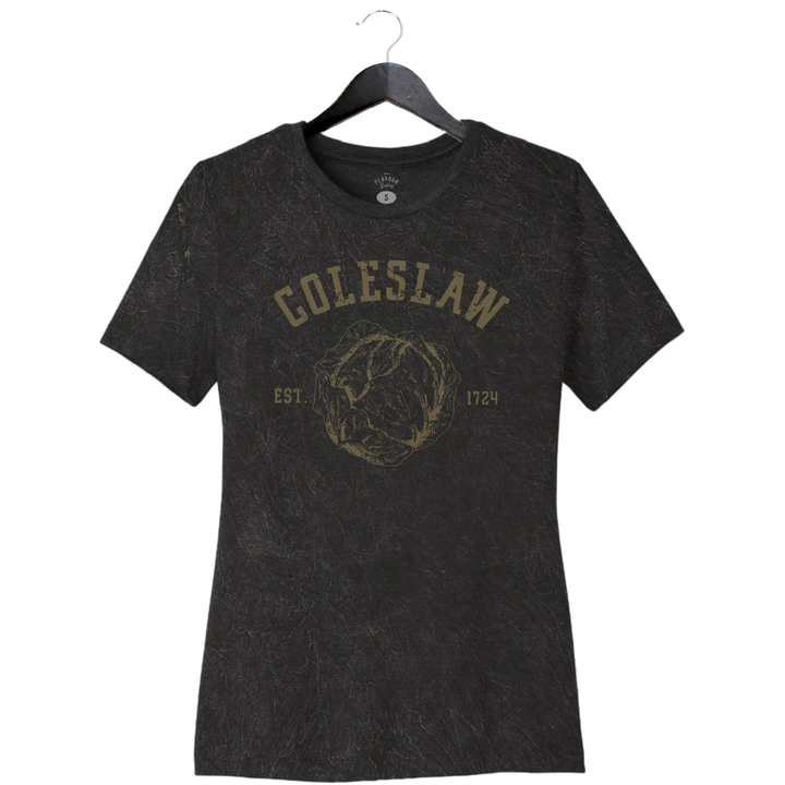 Coleslaw - Women's Relaxed Jersey Tee - Mineral Wash Black