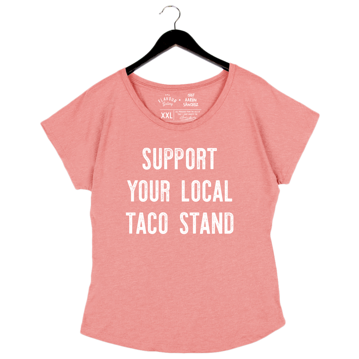 Taco Stand by Aarón Sánchez - Woman's Dolman - Desert Pink