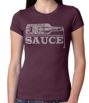 Pronunciation by Guy Fieri - Women's Crew - Plum