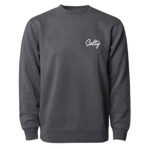 Salty - Unisex Crewneck Sweatshirt - Charcoal Black