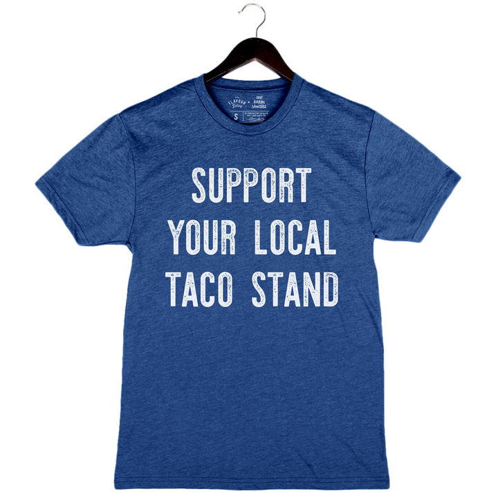 Taco Stand by Aarón Sánchez - Unisex/Men's Crew - Royal Blue