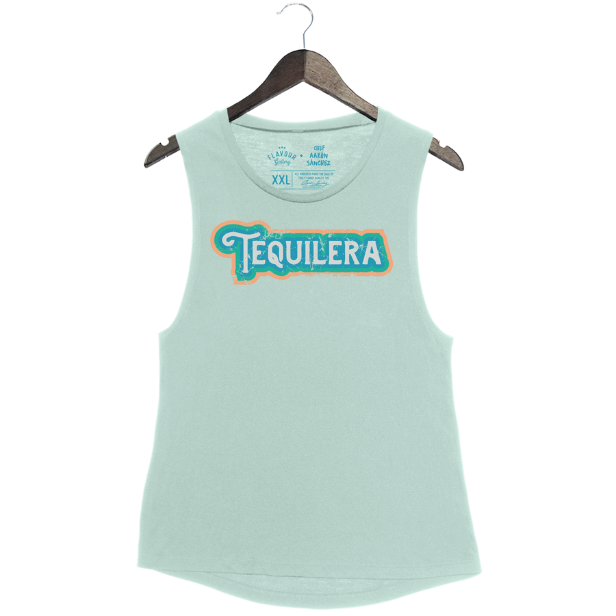 PRESALE - Tequilera by Aarón Sánchez - Women's Muscle Tank - Dusty Blue