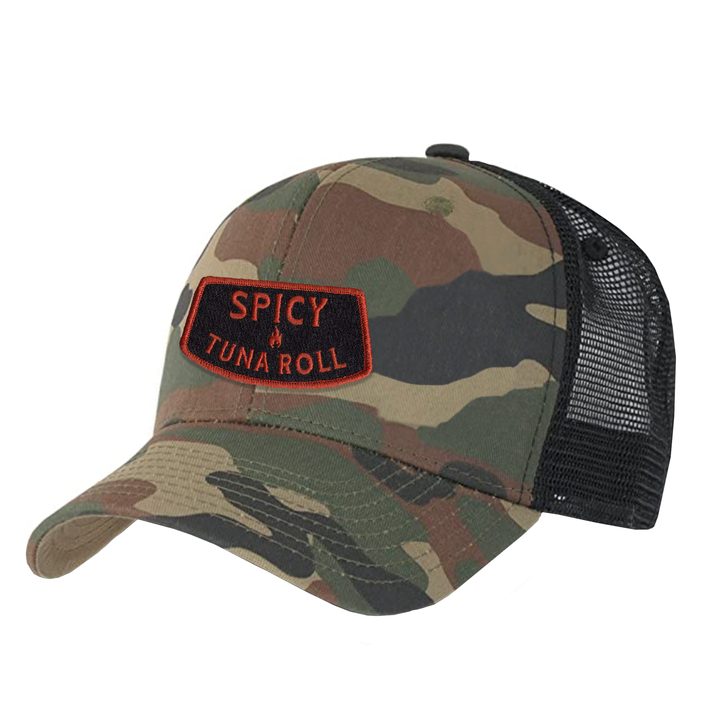 Spicy Tuna Roll - Trucker Hat - Camo/Black