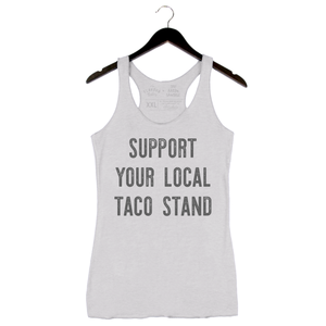 Taco Stand by Aarón Sánchez - Woman's Tank - Heather White
