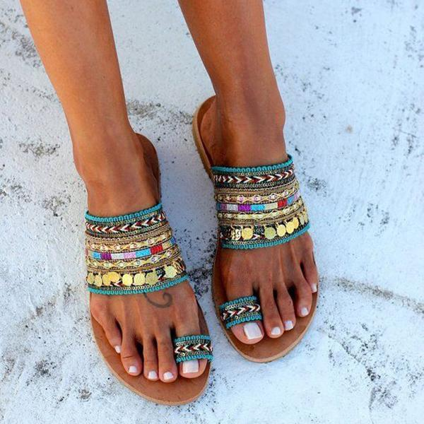 Celebrity Style Bohemian Slippers - Picolamo