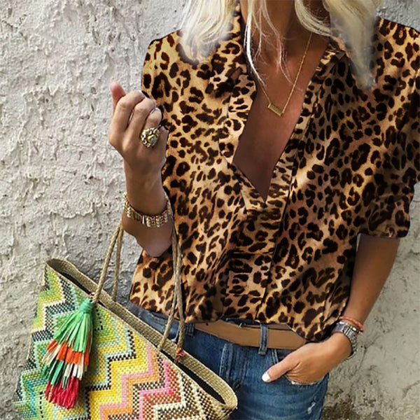 Women's Fashion Leopard Shirt