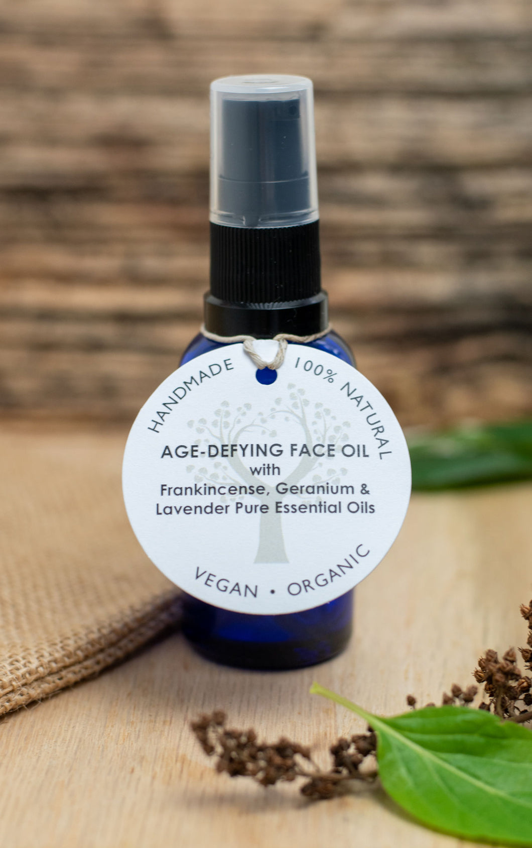 Age-Defying Face Oil with Frankincense, Geranium & Lavender Essential Oil (30ml)