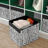 IKEA DRONA Box - Black - White 33x38x33 cm