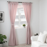 IKEA LENDA Curtains With Tie-Backs - 1 Pair - light Pink 140x300 cm