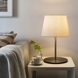 SKOTTORP / SKAFTET Table Lamp - White - Nickel - Plated