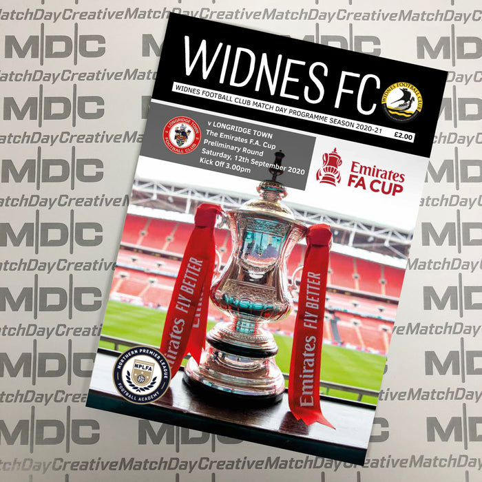 Free Digital version of Widnes FC v Longridge Town FA Cup 12.09.20