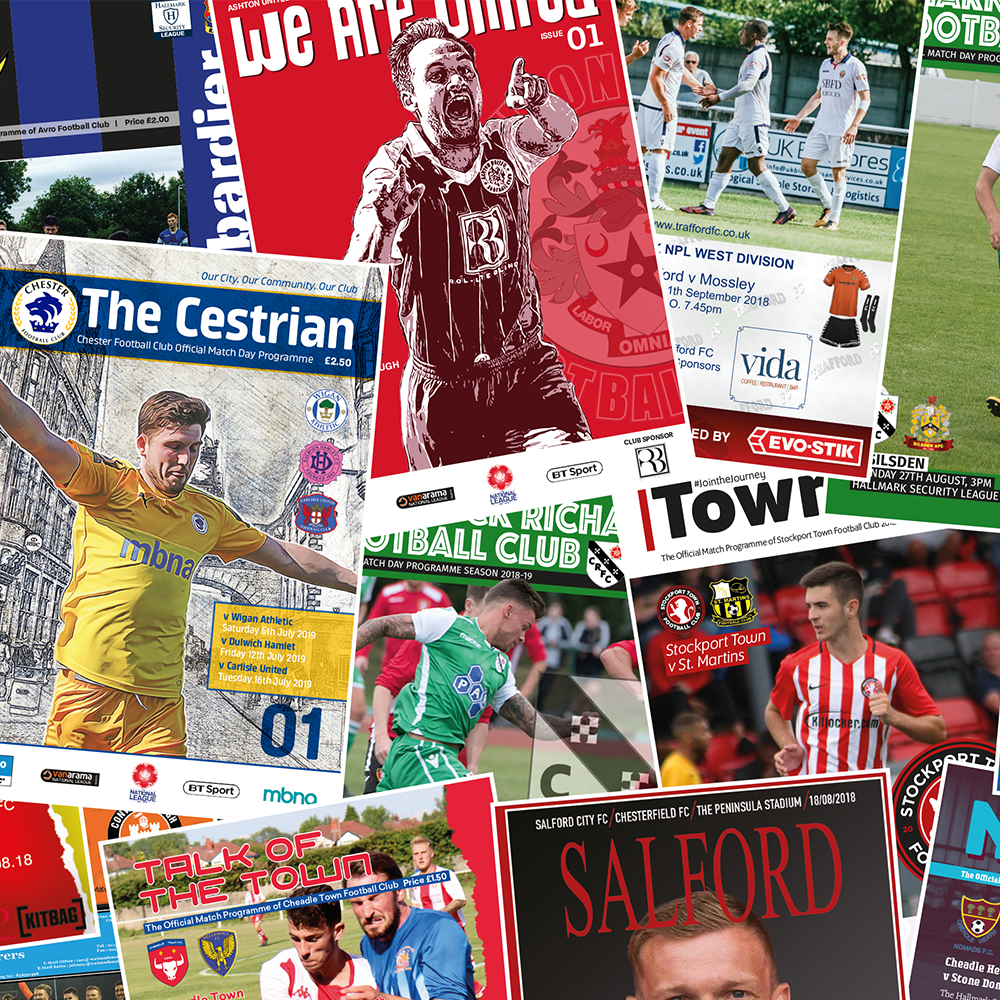 Match Day Creative Football Programmes Printer Design Publisher sales