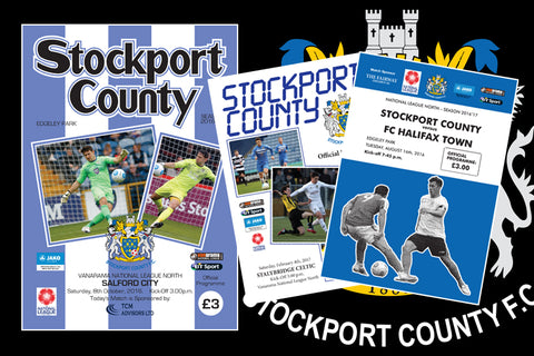 Stockport County Programme design 2016/17