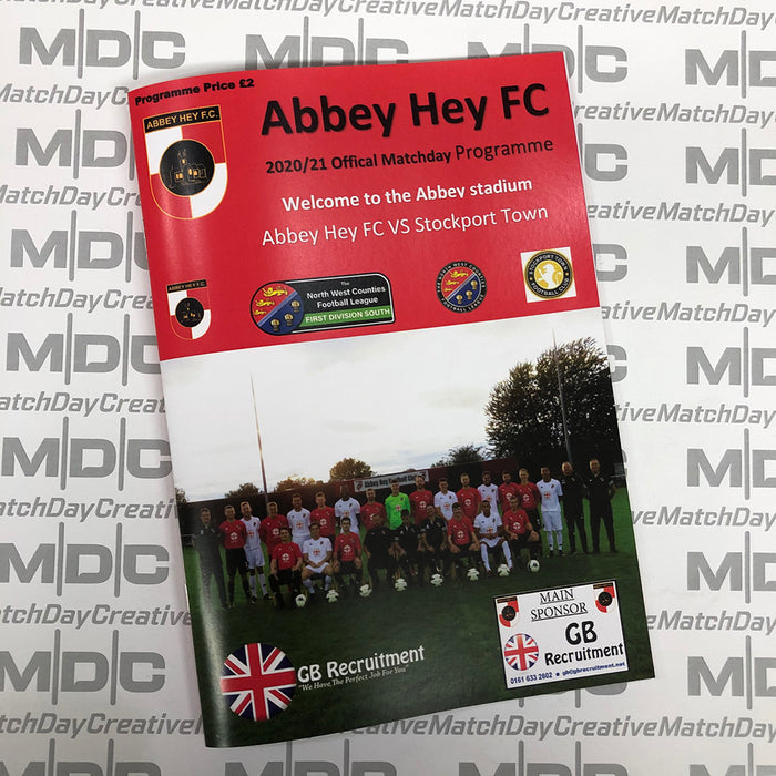 Abbey Hey v Stockport Town Programme