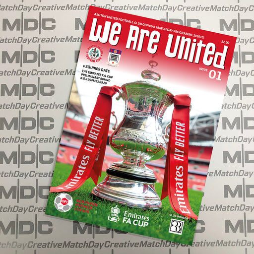 Ashton United v Squires Gate FA Cup Programme