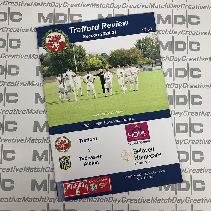 Trafford v Tadcaster Albion Programme