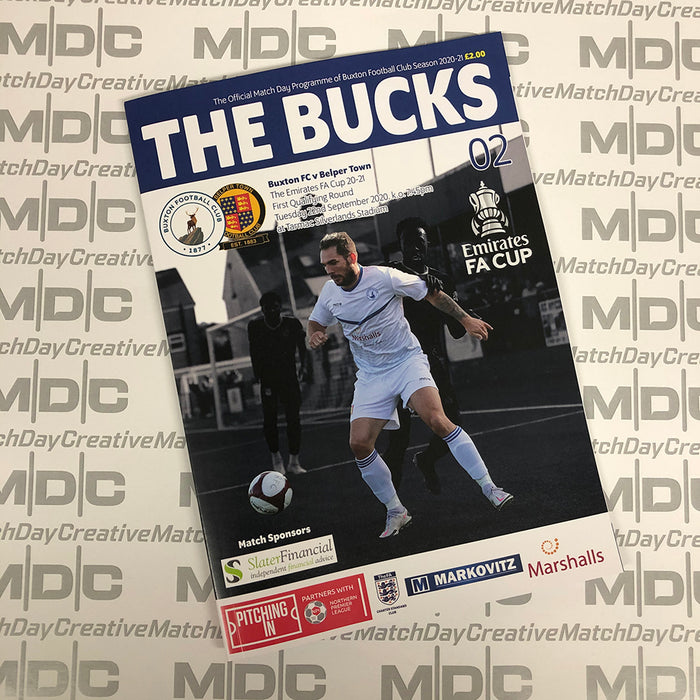 Buxton v Belper Town FA Cup Programme
