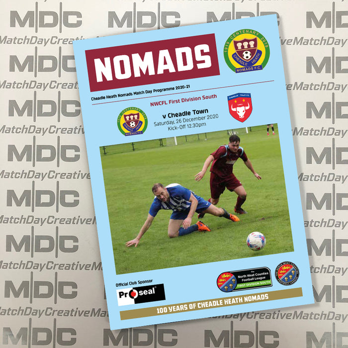 2020/21 #03 Cheadle Heath Nomads v Cheadle Town NWCFL 26.12.20 Digital PDF Programme