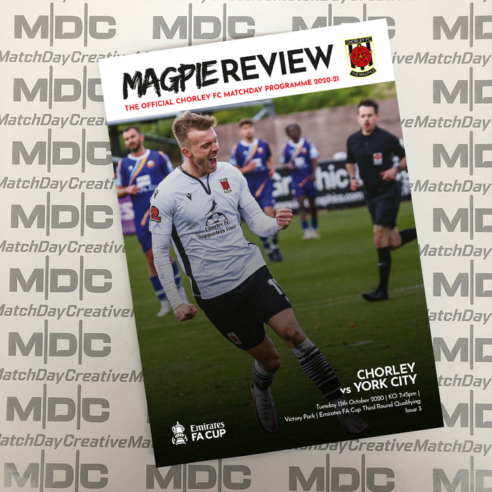 Chorley v York City FA Cup Programme