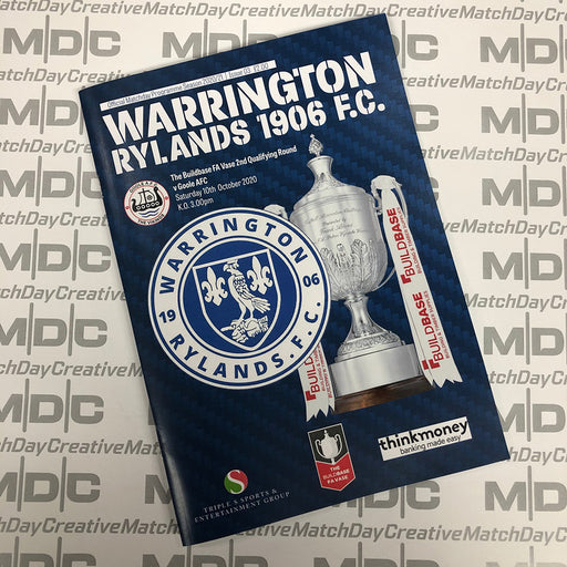 Warrington Rylands v Goole Programme