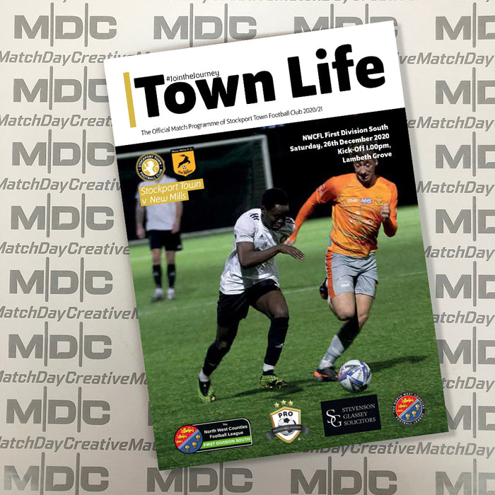 2020/21 #04 Stockport Town v New Mills NWCFL 26.12.20 Printed Programme