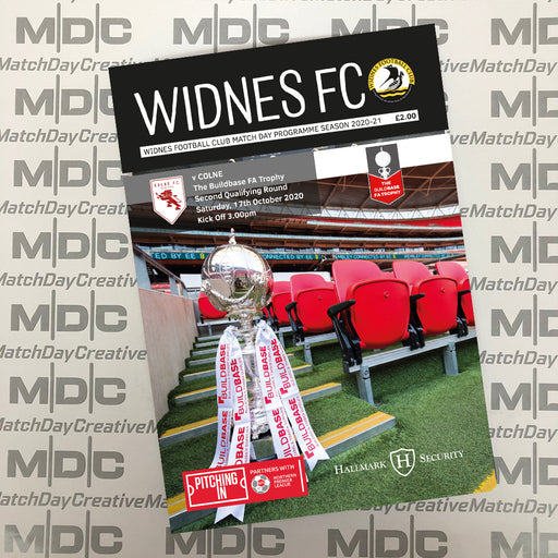 Widnes v Colne FA Trophy Programme