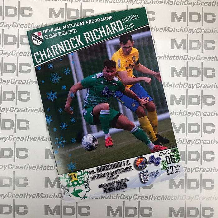 2020/21 #06 Charnock Richard v Burscough NWCFL 18.12.20 Programme